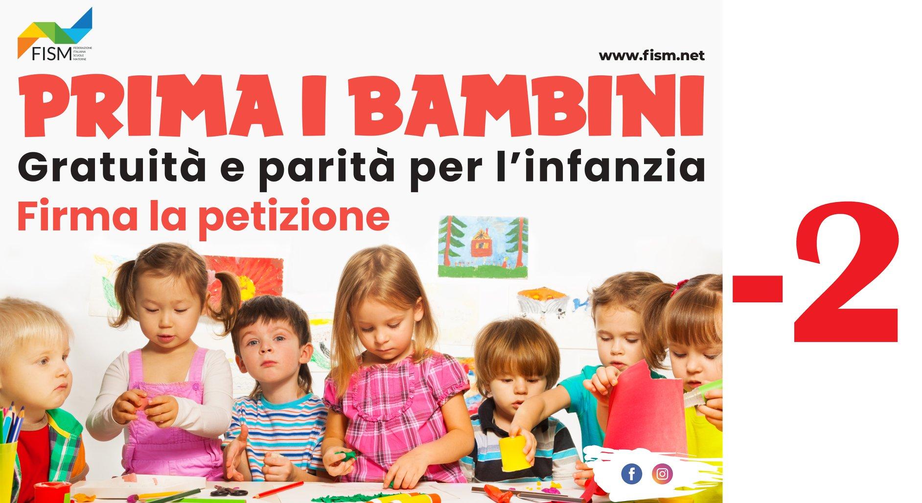 Il 19 aprile parte la mobilitazione dei nidi e delle materne paritarie  no profit: obiettivo per tutti gratuità e parità scolastica.